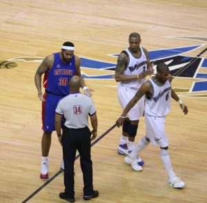@Choices Rasheed Wallace argues with ref